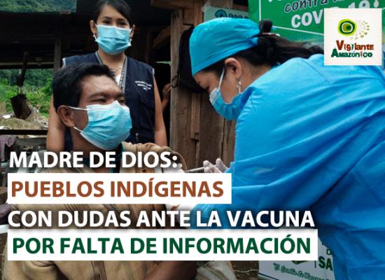 Pueblos indígenas con dudas ante vacuna